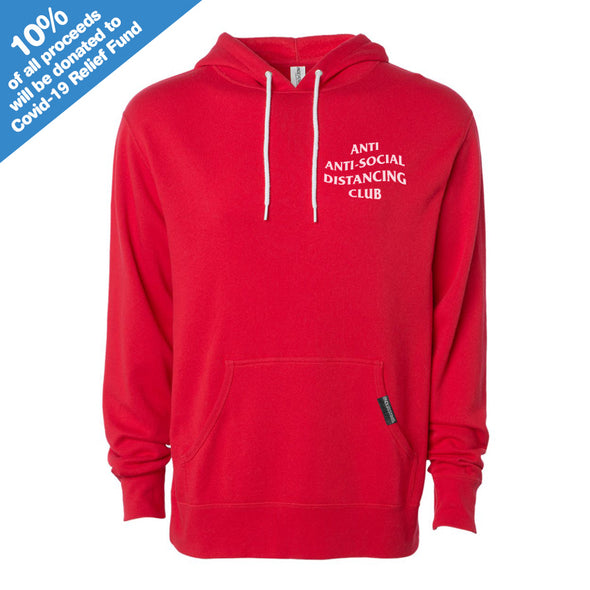 Anti Anti-Social Distancing Club Red Hooded Pullover