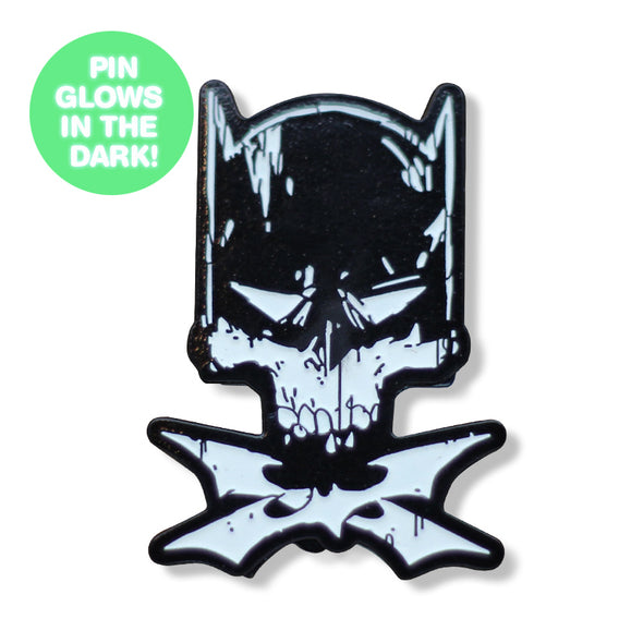 Crusader & Crossbones GLOW-IN-THE-DARK Enamel Pin
