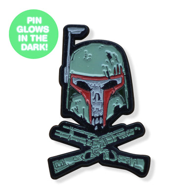Bounty Hunter & Crossbones GLOW SERIES Enamel Pin