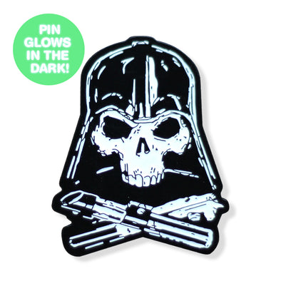 Villain & Crossbones GLOW SERIES Enamel Pin