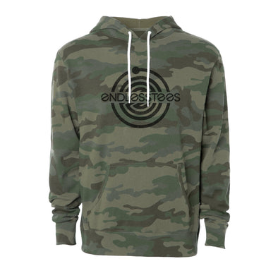 EndlessTees Forest Camo Hooded Pullover
