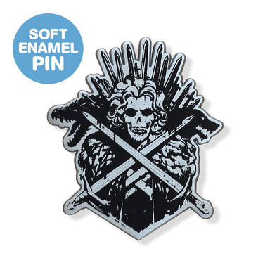 Snow & Crossbones Enamel Pin