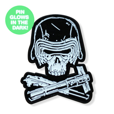 Knight & Crossbones GLOW SERIES Enamel Pin