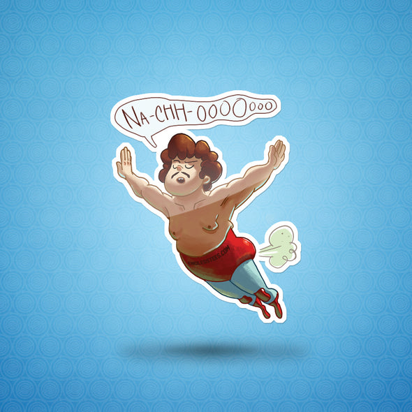 Nacho In Flight Sticker