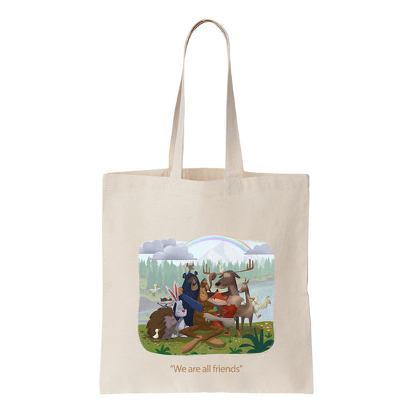 Peet, the Creature with Big Feet Tote Bag