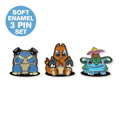 Three Wise Friends Enamel Pin Set