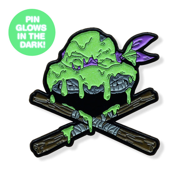 Ninjas & Crossbones Enamel Pin: Purple