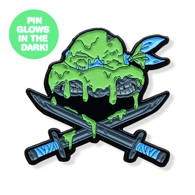 Ninjas & Crossbones Enamel Pin: Blue