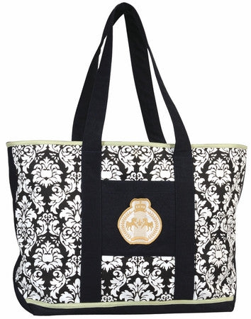 Equine Couture Damask Tote Bag
