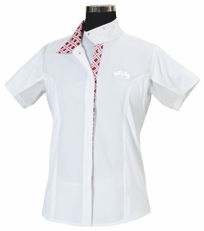 Equine Couture Jenna Show Shirt - Ladies Plus Size,Short Sleeve