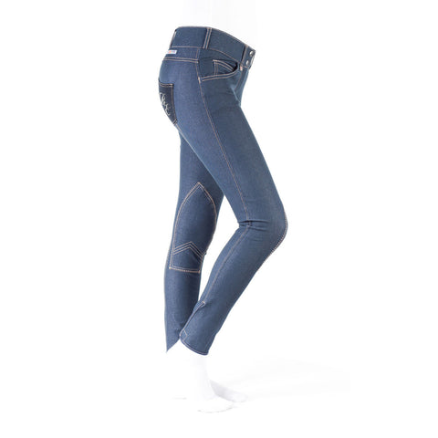 Horze Silvia Women's Denim Self Patch Breeches