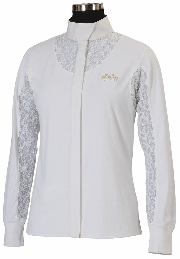 Equine Couture Celine Long Sleeve Show Shirt - Ladies