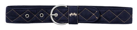 Equine Couture Diamond Quilted Suede Belt - Ladies