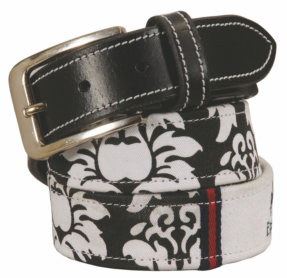 Equine Couture Damask Leather Belt