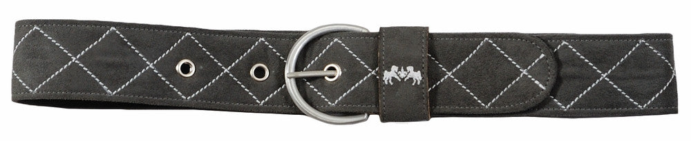 Equine Couture Diamond Quilted Suede Belt