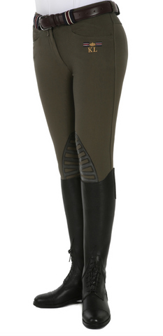 Kelly Slim Fit Breeches Olive