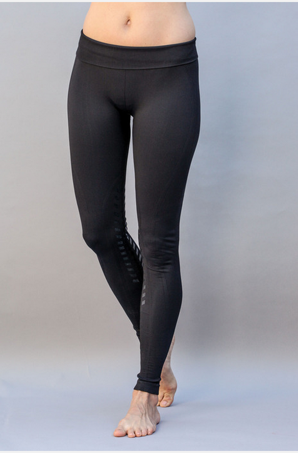 Seamless Designer Tights Knee Patch