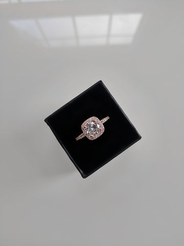 Aurora - Cushion Cut Cubic Zirconia Rose Gold Ring