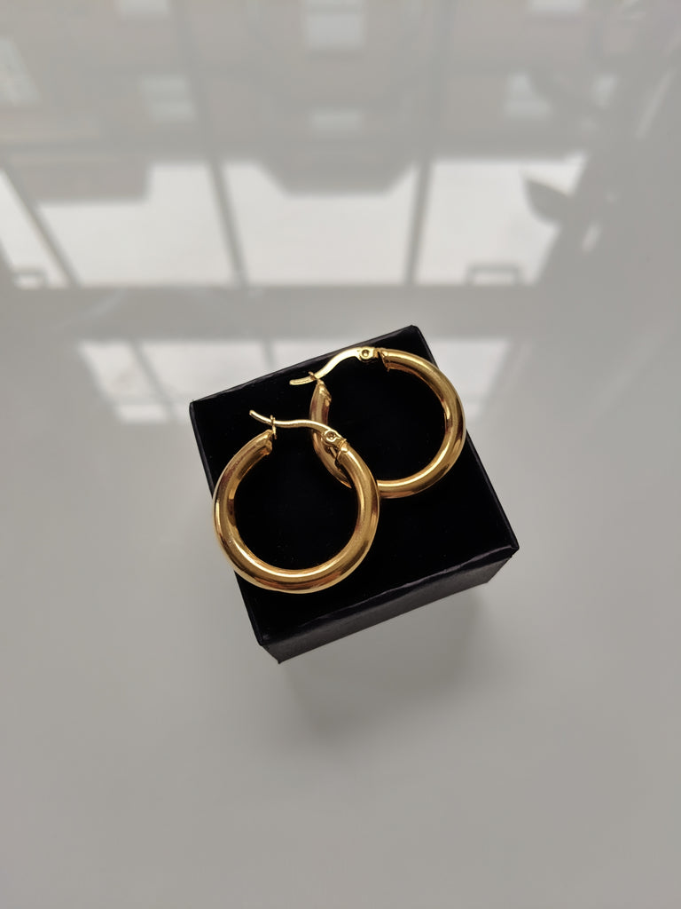 Warrior Princess Thick Gold Hoops