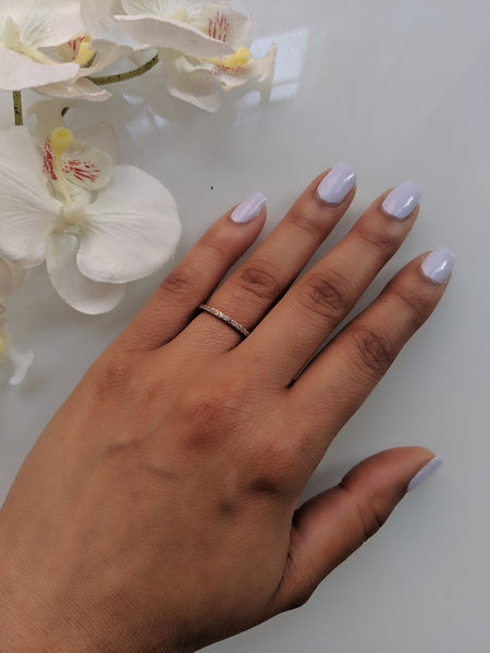 Miss Katy - Thin Rose Gold Eternity Ring