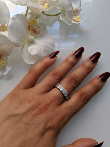 Miss Belle Ring - Oval Cubic Zirconia Eternity Ring