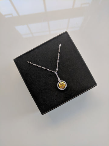 Lemon Martini Platinum Necklace