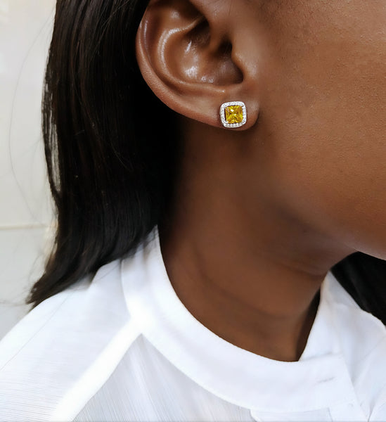 Lemonade Silver Colour Studs