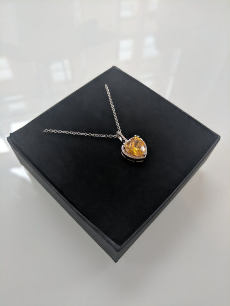 Love Hearts Yellow Necklace