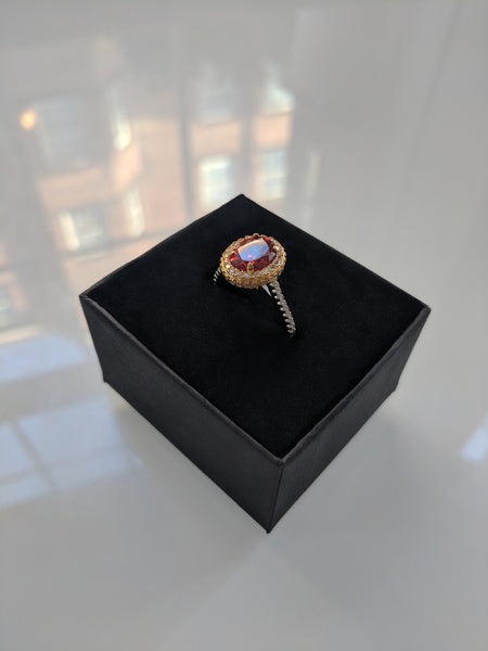 India Yellow and White Gold Ring