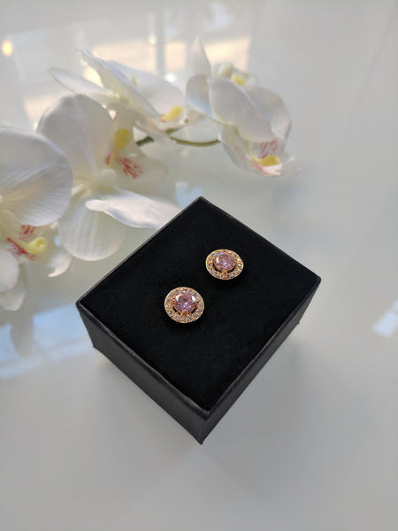 Candy Princess - Pink and Gold Plated Studs