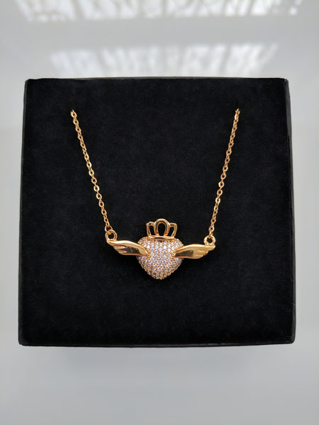 Love Bird Gold Necklace