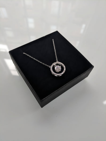 luxury fashion necklace with pattern silver white gold plated