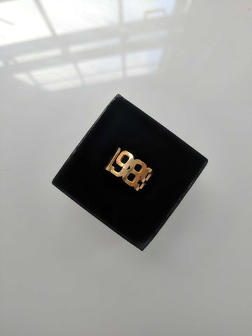 Custom gold adjustable ring kylie jenner style