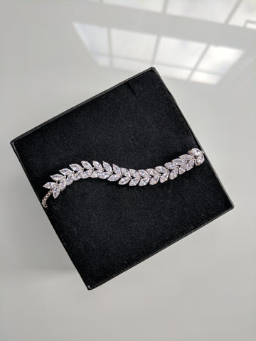 Birds Of A Feather White Gold Bracelet