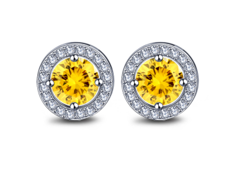 Lemon Martini Platinum Studs