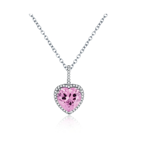 Love Hearts Pink Necklace