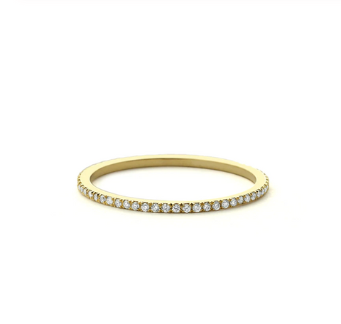 Miss Katy - Thin Gold Eternity Ring