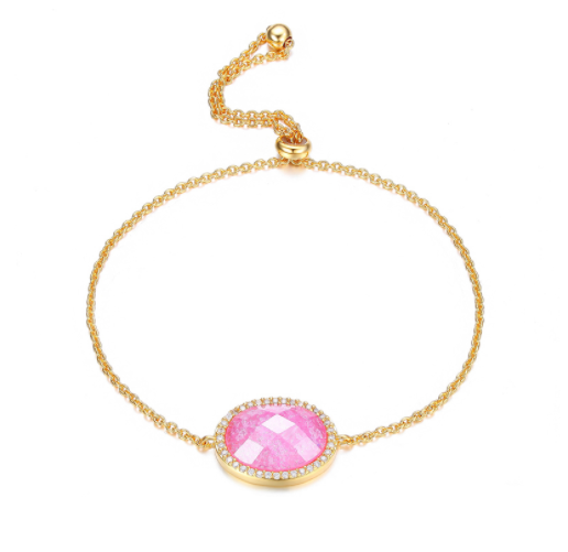 Crushed Candy - Pink and Gold Bracelet