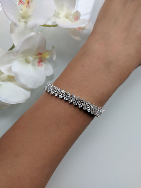 Shooting Star White Gold Bracelet