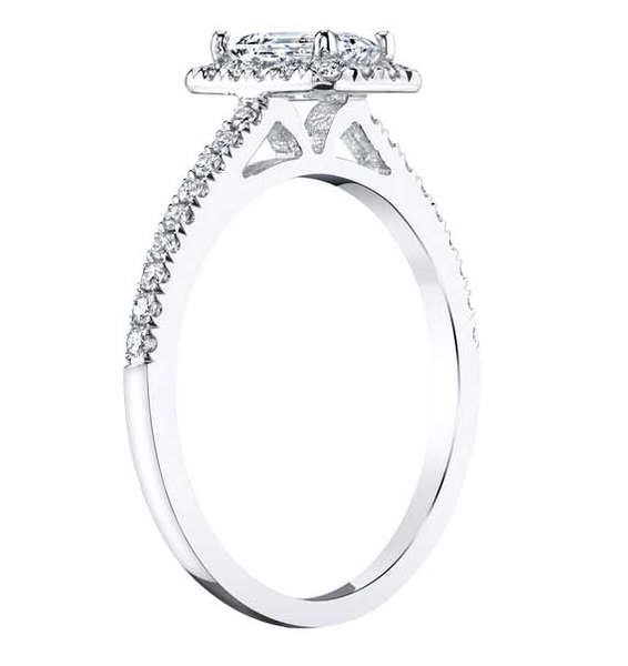 Thin band engagement style silver cubic zirconia affordable high quality ring