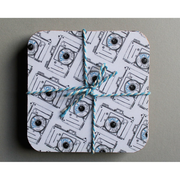 Smile Camera Coaster Set