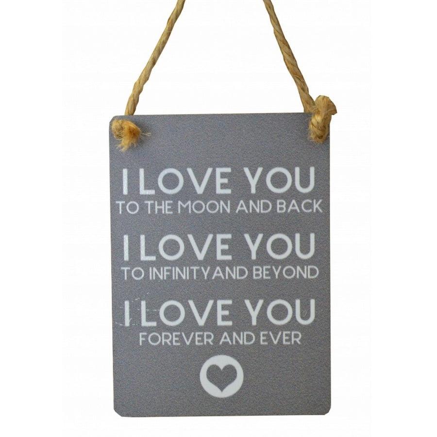 I Love You Mini Metal Sign - Feeling Quirky