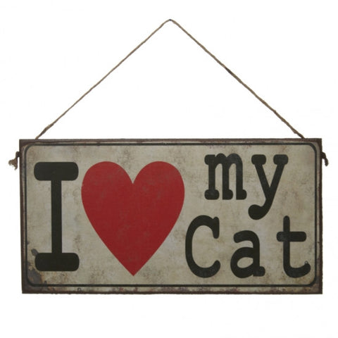 I Love My Cat Sign - Feeling Quirky