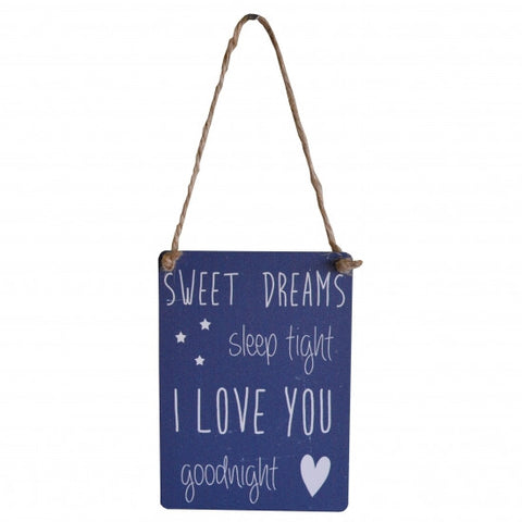Sweet Dreams Goodnight Mini Metal Sign