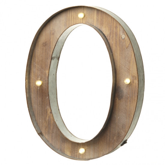 Large Light Up Letter 'O' Sign With LED - Feeling Quirky