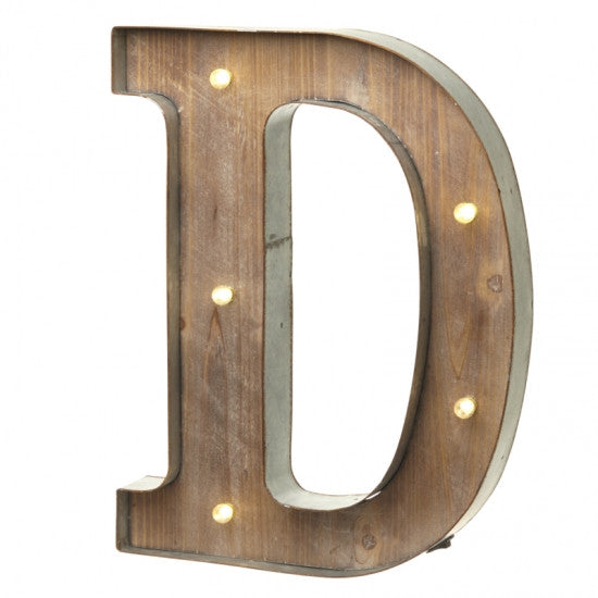 Large Light Up Letter 'D' Sign With LED - Feeling Quirky