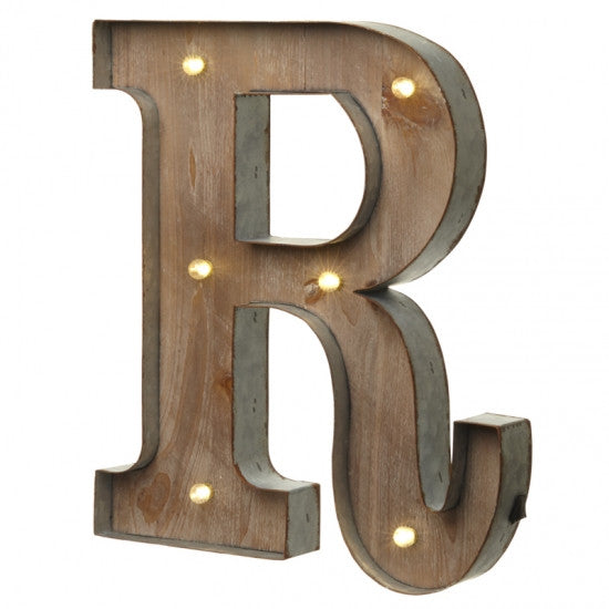 Large Light Up Letter 'R' Sign With LED - Feeling Quirky