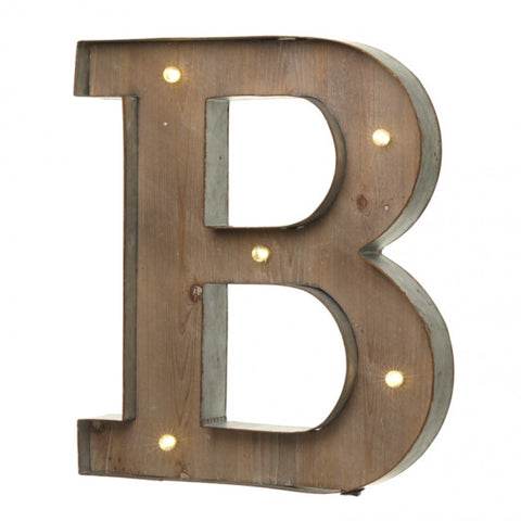 Large Light Up Letter 'B' Sign With LED - Feeling Quirky