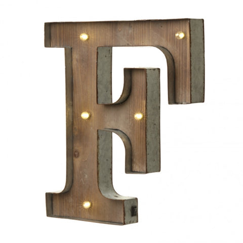 Large Light Up Letter 'F' Sign With LED - Feeling Quirky