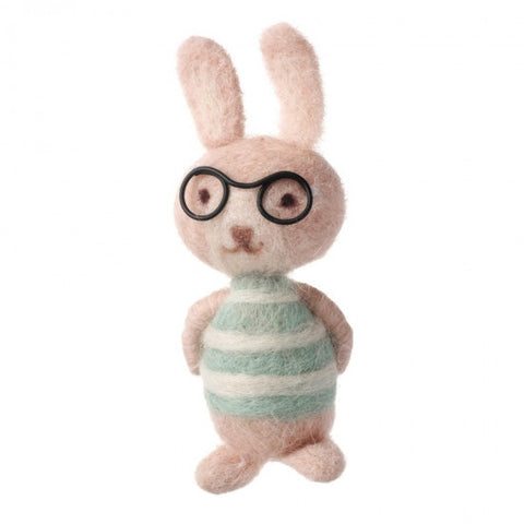 Wool Bunny With Glasses